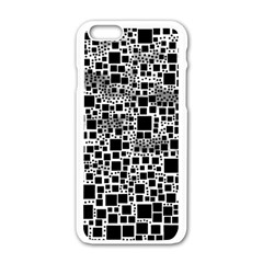 Block On Block, B&w Apple Iphone 6/6s White Enamel Case by MoreColorsinLife