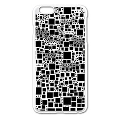 Block On Block, B&w Apple Iphone 6 Plus/6s Plus Enamel White Case