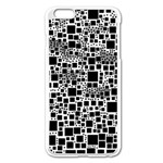 Block On Block, B&w Apple iPhone 6 Plus/6S Plus Enamel White Case Front