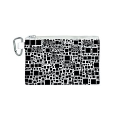 Block On Block, B&w Canvas Cosmetic Bag (s) by MoreColorsinLife