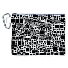 Block On Block, B&w Canvas Cosmetic Bag (xxl) by MoreColorsinLife