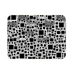 Block On Block, B&w Double Sided Flano Blanket (Mini)  35 x27 Blanket Front