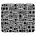 Block On Block, B&w Double Sided Flano Blanket (Small)  50 x40 Blanket Front