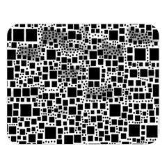 Block On Block, B&w Double Sided Flano Blanket (large)  by MoreColorsinLife