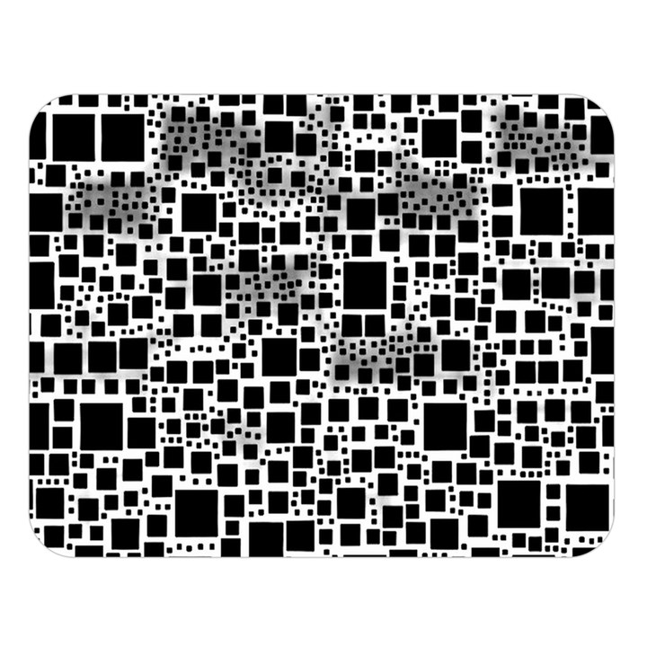 Block On Block, B&w Double Sided Flano Blanket (Large)