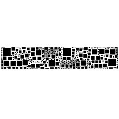 Block On Block, B&w Flano Scarf (large) by MoreColorsinLife
