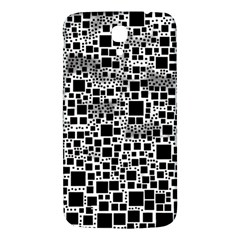 Block On Block, B&w Samsung Galaxy Mega I9200 Hardshell Back Case by MoreColorsinLife