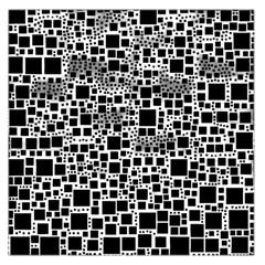 Block On Block, B&w Large Satin Scarf (Square)