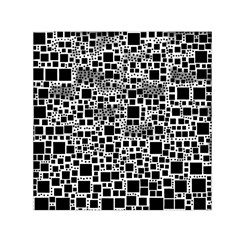 Block On Block, B&w Small Satin Scarf (square)