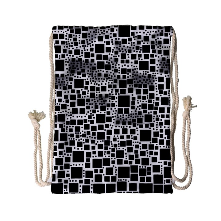Block On Block, B&w Drawstring Bag (Small)