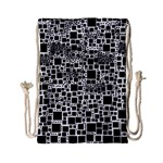 Block On Block, B&w Drawstring Bag (Small) Back