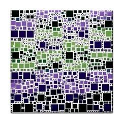 Block On Block, Purple Tile Coasters by MoreColorsinLife