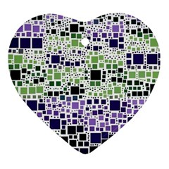Block On Block, Purple Ornament (heart)  by MoreColorsinLife