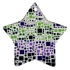 Block On Block, Purple Ornament (star)  by MoreColorsinLife
