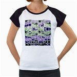 Block On Block, Purple Women s Cap Sleeve T Front