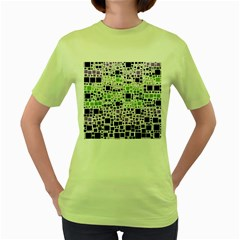Block On Block, Purple Women s Green T Shirt
