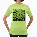 Block On Block, Purple Women s Green T-Shirt Front