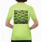 Block On Block, Purple Women s Green T-Shirt Back