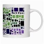 Block On Block, Purple White Mugs Right