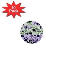 Block On Block, Purple 1  Mini Magnet (10 Pack)  by MoreColorsinLife