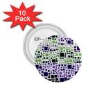 Block On Block, Purple 1.75  Buttons (10 pack)