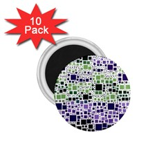 Block On Block, Purple 1 75  Magnets (10 Pack)  by MoreColorsinLife