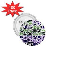 Block On Block, Purple 1 75  Buttons (100 Pack)  by MoreColorsinLife