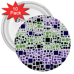Block On Block, Purple 3  Buttons (10 pack)