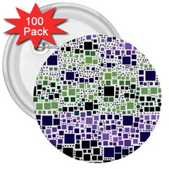 Block On Block, Purple 3  Buttons (100 pack)
