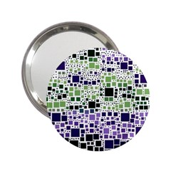Block On Block, Purple 2 25  Handbag Mirrors by MoreColorsinLife