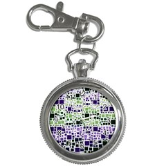 Block On Block, Purple Key Chain Watches by MoreColorsinLife