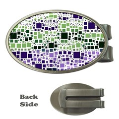 Block On Block, Purple Money Clips (oval)  by MoreColorsinLife