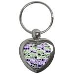 Block On Block, Purple Key Chains (Heart)