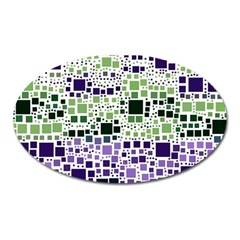 Block On Block, Purple Oval Magnet by MoreColorsinLife