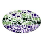 Block On Block, Purple Oval Magnet Front