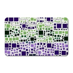 Block On Block, Purple Magnet (rectangular) by MoreColorsinLife