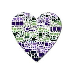 Block On Block, Purple Heart Magnet by MoreColorsinLife