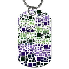 Block On Block, Purple Dog Tag (one Side) by MoreColorsinLife