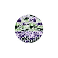 Block On Block, Purple Golf Ball Marker by MoreColorsinLife
