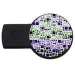 Block On Block, Purple USB Flash Drive Round (2 GB)