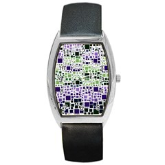 Block On Block, Purple Barrel Style Metal Watch by MoreColorsinLife