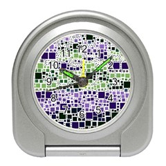 Block On Block, Purple Travel Alarm Clocks by MoreColorsinLife