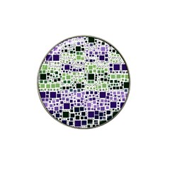 Block On Block, Purple Hat Clip Ball Marker (10 Pack)