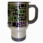 Block On Block, Purple Travel Mug (Silver Gray) Right