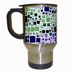 Block On Block, Purple Travel Mugs (White)
