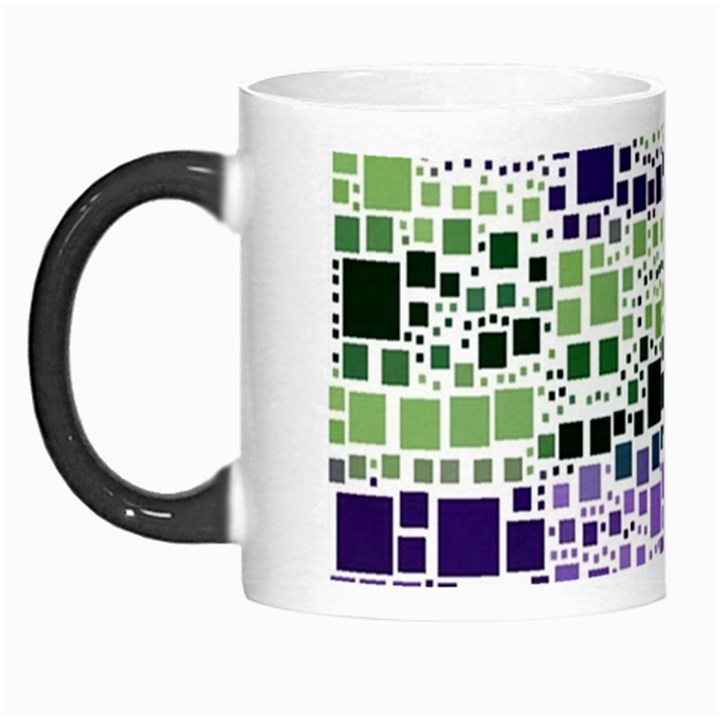 Block On Block, Purple Morph Mugs