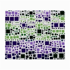 Block On Block, Purple Small Glasses Cloth by MoreColorsinLife