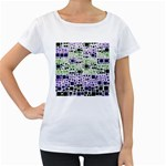 Block On Block, Purple Women s Loose-Fit T-Shirt (White) Front