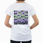 Block On Block, Purple Women s Loose-Fit T-Shirt (White) Back