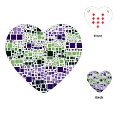 Block On Block, Purple Playing Cards (Heart)